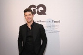 Singer Robin Thicke attends the 2013 GQ Gentlemen's Ball presented by BMW i Movado and Nautica at IAC Building on October 23 2013 in New York City
