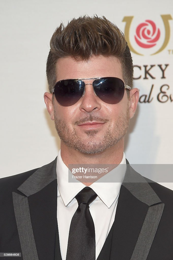 Singer Robin Thicke attends the Unbridled Eve Gala during the 142nd Kentucky Derby on May 6, 2016 in Louisville, Kentucky.