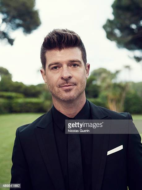 Singer Robin Thicke is photographed for Self Assignment on May 15 2015 in Cannes France