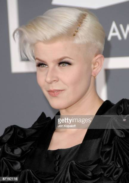 Singer Robyn arrives at the 51st Annual Grammy Awards at the Staples Center on February 8 2009 in Los Angeles California