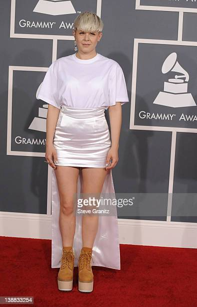Singer Robyn arrives at The 54th Annual GRAMMY Awards at Staples Center on February 12 2012 in Los Angeles California