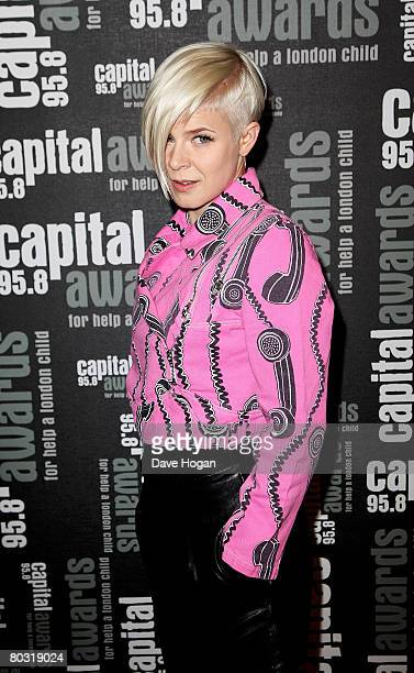 Singer Robyn arrives at the Capital 958 Awards for Help A London Child at the Park Plaza Riverbank on March 20 2008 in London England