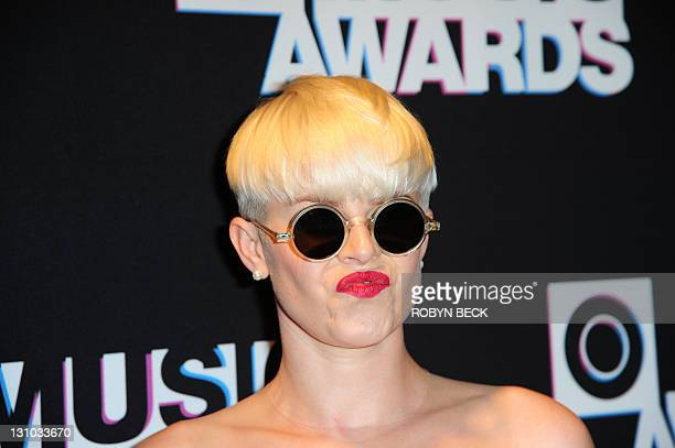 Singer Robyn arrives at the MTV O Music Awards in West Hollywood California October 31 2011 The MTV O Music Awards focuses on music achievements in...