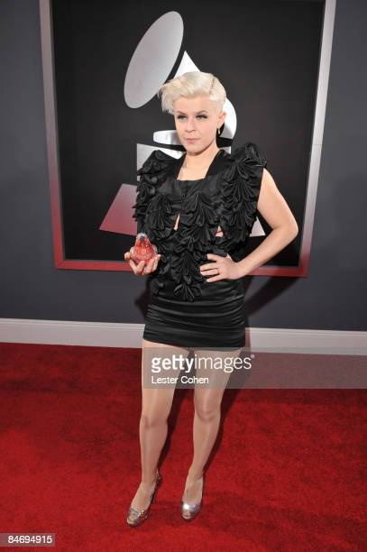 Singer Robyn arrives to the 51st Annual GRAMMY Awards held at the Staples Center on February 8 2009 in Los Angeles California