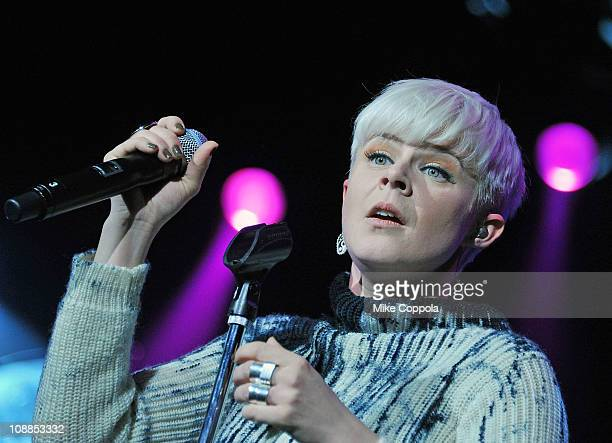 Singer Robyn performs at Radio City Music Hall on February 5 2011 in New York City