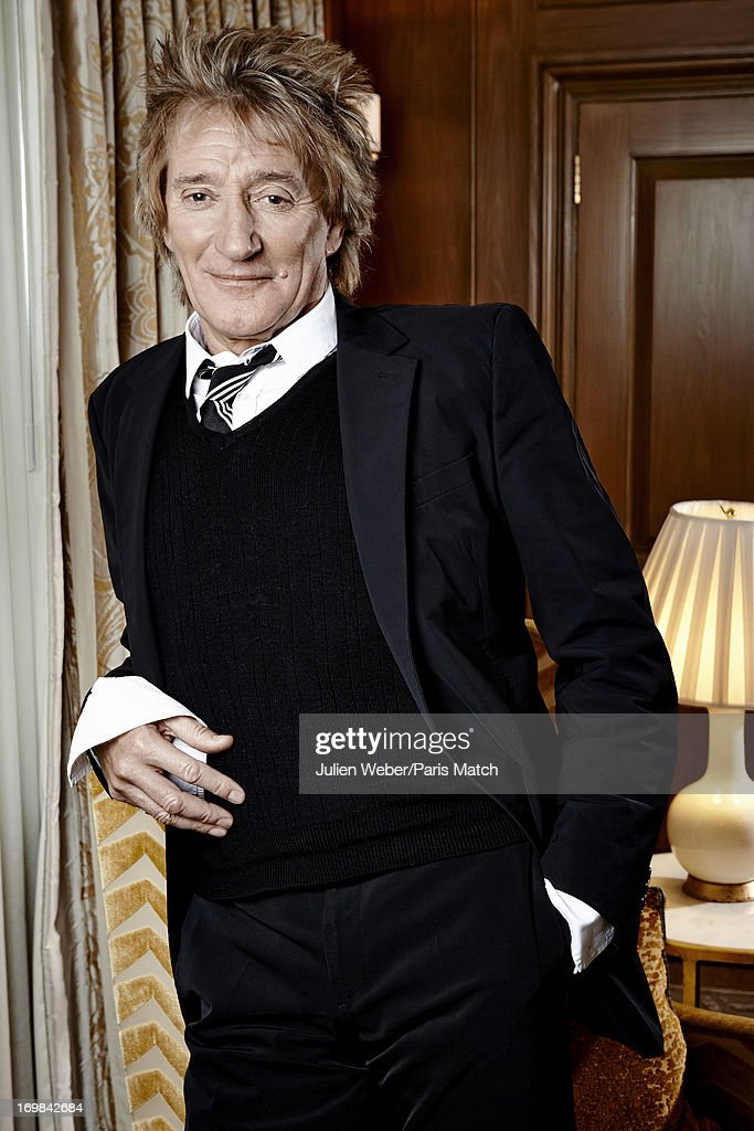 Singer <a gi-track='captionPersonalityLinkClicked' href=/galleries/search?phrase=Rod+Stewart&family=editorial&specificpeople=160467 ng-click='$event.stopPropagation()'>Rod Stewart</a> is photographed for Paris Match on March 20, 2013 in London, England.
