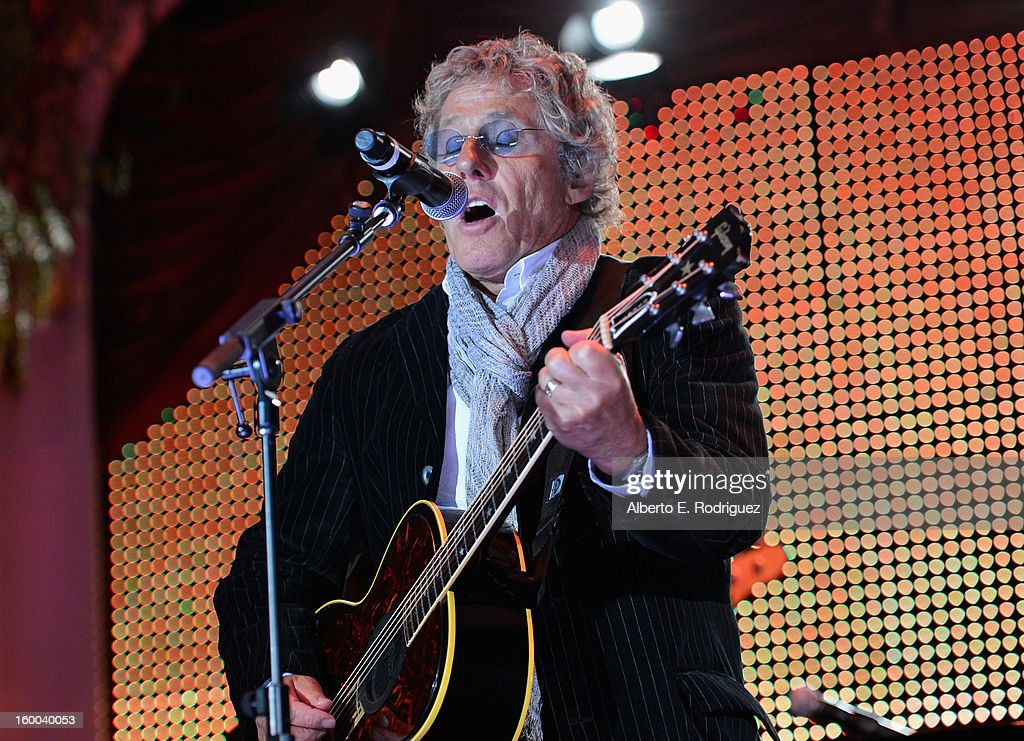 Singer <a gi-track='captionPersonalityLinkClicked' href=/galleries/search?phrase=Roger+Daltrey&family=editorial&specificpeople=201896 ng-click='$event.stopPropagation()'>Roger Daltrey</a> performs at The Voice Health Institute's 'Raise Your Voice' benefit at the Beverly Hills Hotel on January 24, 2013 in Beverly Hills, California.
