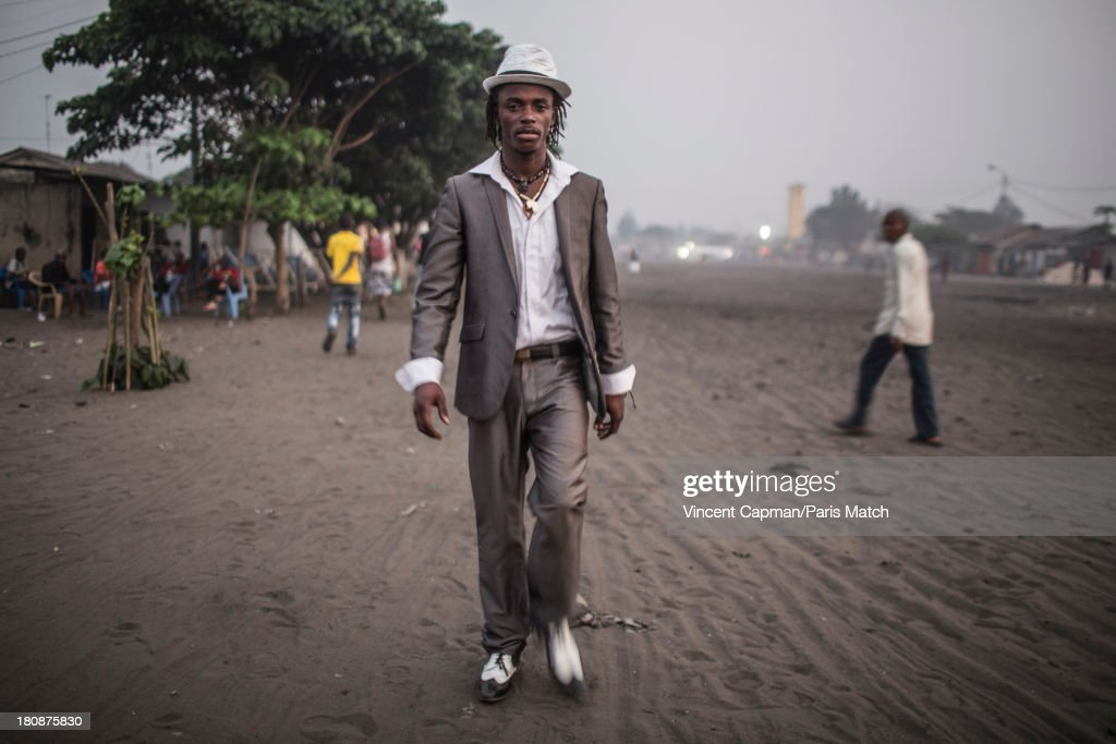 Singer Roger Landu of Staff Benda Bilili are photographed for Paris Match on August 27, 2013 in Kinshasa, Democratic Republic of Congo.