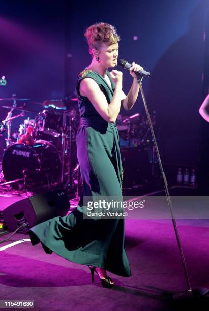 Singer Roisin Murphy performs during Gucci Party as part of Milan Fashion Week Spring/Summer 2009 on June 23 2008 in Milan Italy