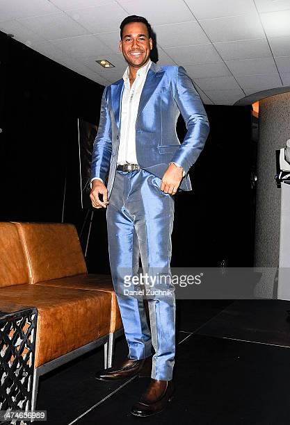 Singer Romeo Santos attends Romeo Santos' 'Formula Vol 2' Album Release Press Conference at Yankee Stadium on February 24 2014 in New York City