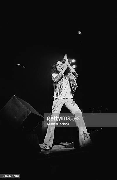 Singer Ronnie James Dio performing with British rock group Rainbow USA May 1978