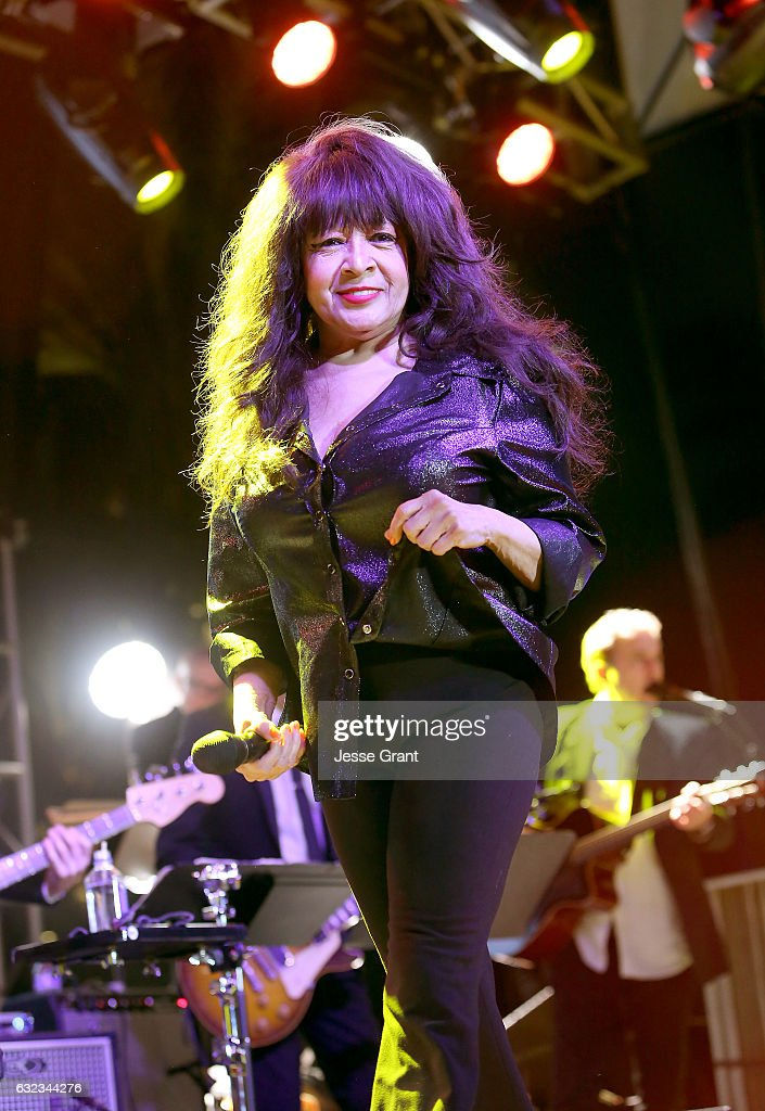 Singer Ronnie Spector performs onstage during the 2017 NAMM Show at the Anaheim Convention Center on January 21, 2017 in Anaheim, California.