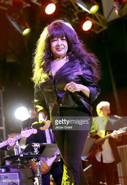 Singer Ronnie Spector performs onstage during the 2017 NAMM Show at the Anaheim Convention Center on January 21 2017 in Anaheim California