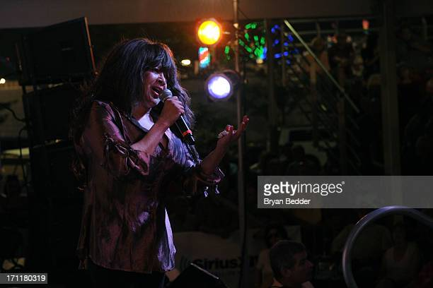 Singer Ronnie Spector performs onstage the Cousin Brucie's First Annual Palisades Park Reunion presented by SiriusXM on June 22 2013 in East...