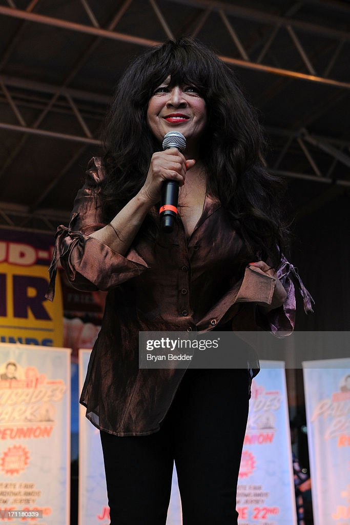 Singer <a gi-track='captionPersonalityLinkClicked' href=/galleries/search?phrase=Ronnie+Spector&family=editorial&specificpeople=1652082 ng-click='$event.stopPropagation()'>Ronnie Spector</a> performs onstage the Cousin Brucie's First Annual Palisades Park Reunion presented by SiriusXM on June 22, 2013 in East Rutherford, New Jersey.