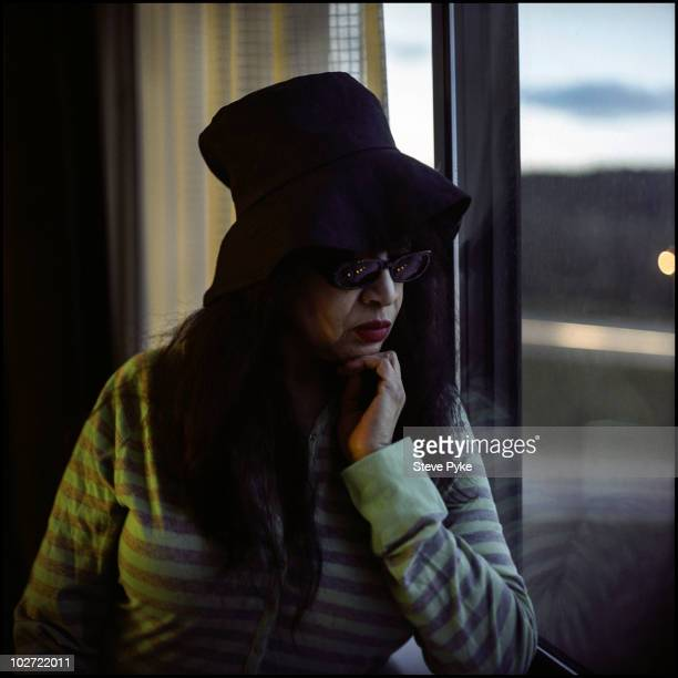 Singer Ronnie Spector poses for a portrait shoot in New York USA