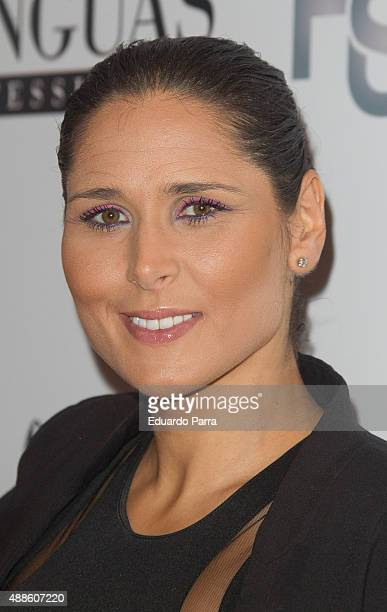 Singer Rosa Lopez attends Hairstaff Charity Gala photocall at Bodevil Theatre on September 16 2015 in Madrid Spain