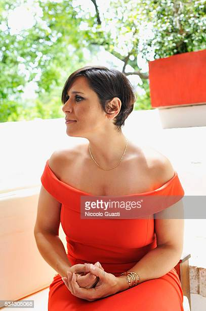 Singer Rosa Lopez presents Fontarel on May 24 2016 in Seville Spain
