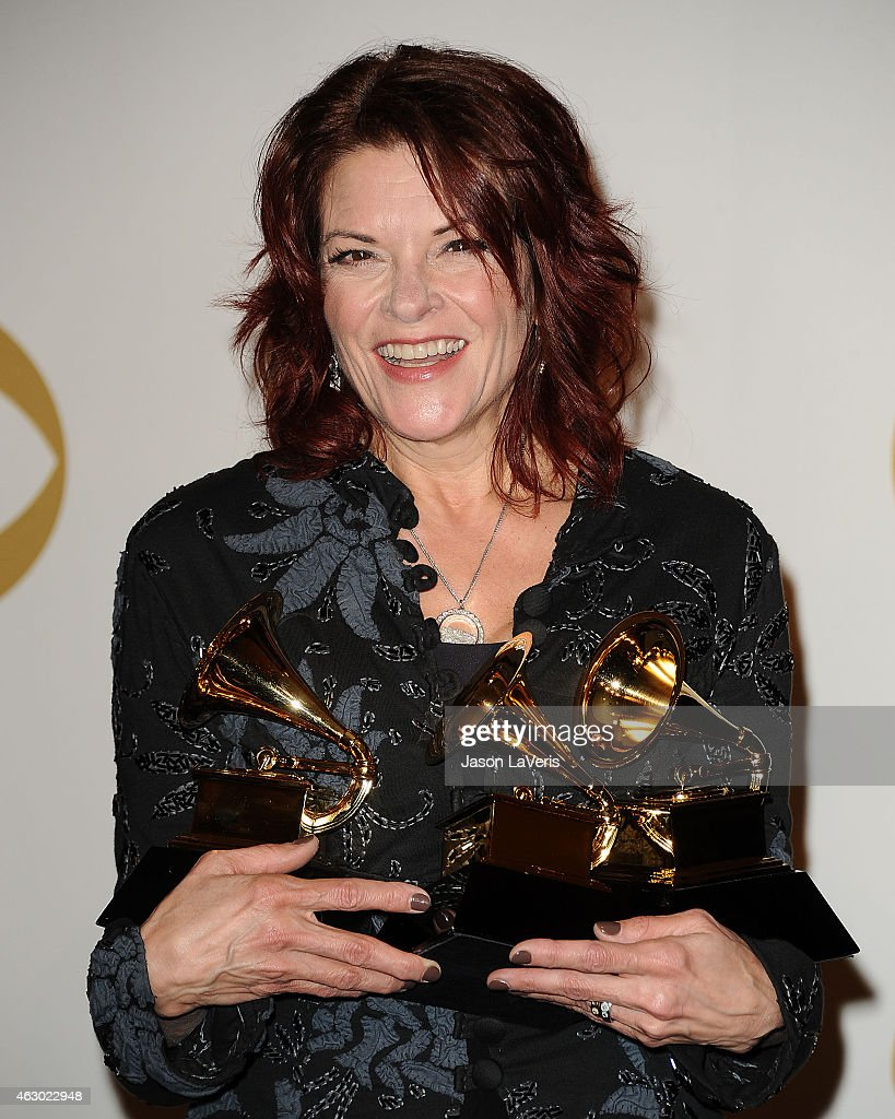 Singer <a gi-track='captionPersonalityLinkClicked' href=/galleries/search?phrase=Rosanne+Cash&family=editorial&specificpeople=243014 ng-click='$event.stopPropagation()'>Rosanne Cash</a> poses in the press room at the 57th GRAMMY Awards at Staples Center on February 8, 2015 in Los Angeles, California.