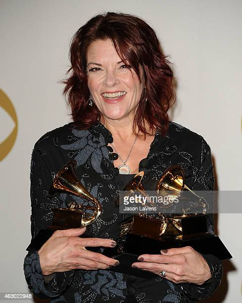 Singer Rosanne Cash poses in the press room at the 57th GRAMMY Awards at Staples Center on February 8 2015 in Los Angeles California