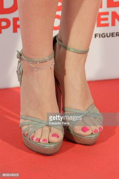 Singer Roser Murillo shoes detail attends the 'Despido procedente' photocall at Callao cinema on June 29 2017 in Madrid Spain