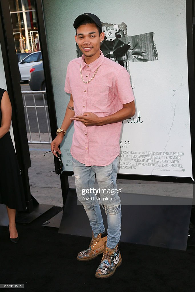 Singer Roshon Fegan arrives at the premiere of New Line Cinema's 'Lights Out' at the TCL Chinese Theatre on July 19 2016 in Hollywood California