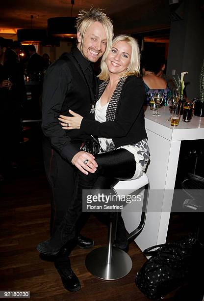 Singer Ross Antony and Aleksandra Bechtel attend the RIM presentation of the new 'BlackBerry Bold' at Kameha Suite on October 21 2009 in Cologne...