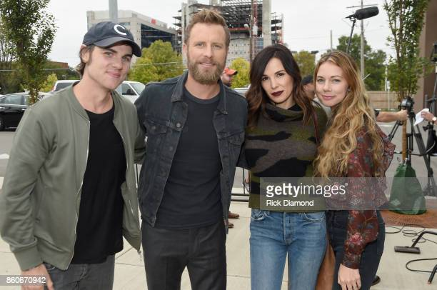 Singer Ross Copperman singersongwriter Dierks Bently Cassidy Black and Katlin Copperman attends 'Only The Brave' Nashville screening hosted by Dierks...