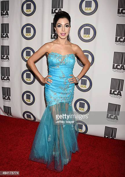 Singer Roxy Darr attends the Last Chance for Animals Benefit Gala at The Beverly Hilton Hotel on October 24 2015 in Beverly Hills California