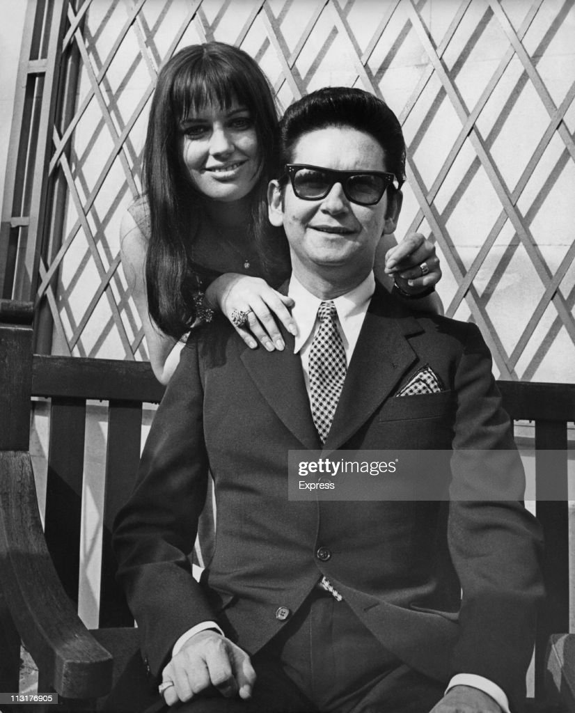 Singer <a gi-track='captionPersonalityLinkClicked' href=/galleries/search?phrase=Roy+Orbison&family=editorial&specificpeople=913944 ng-click='$event.stopPropagation()'>Roy Orbison</a> (1936 - 1988) and his new wife Barbara during a tour of Great Britain on April 02, 1969.
