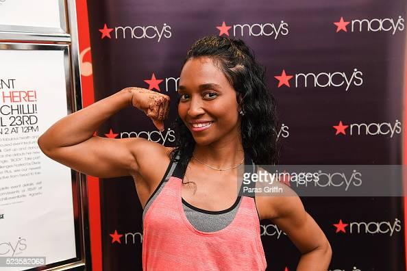 Singer Rozonda 'Chilli' Thomas of TLC attends Go You Active at Macy's Lenox Square on April 23 2016 in Atlanta Georgia