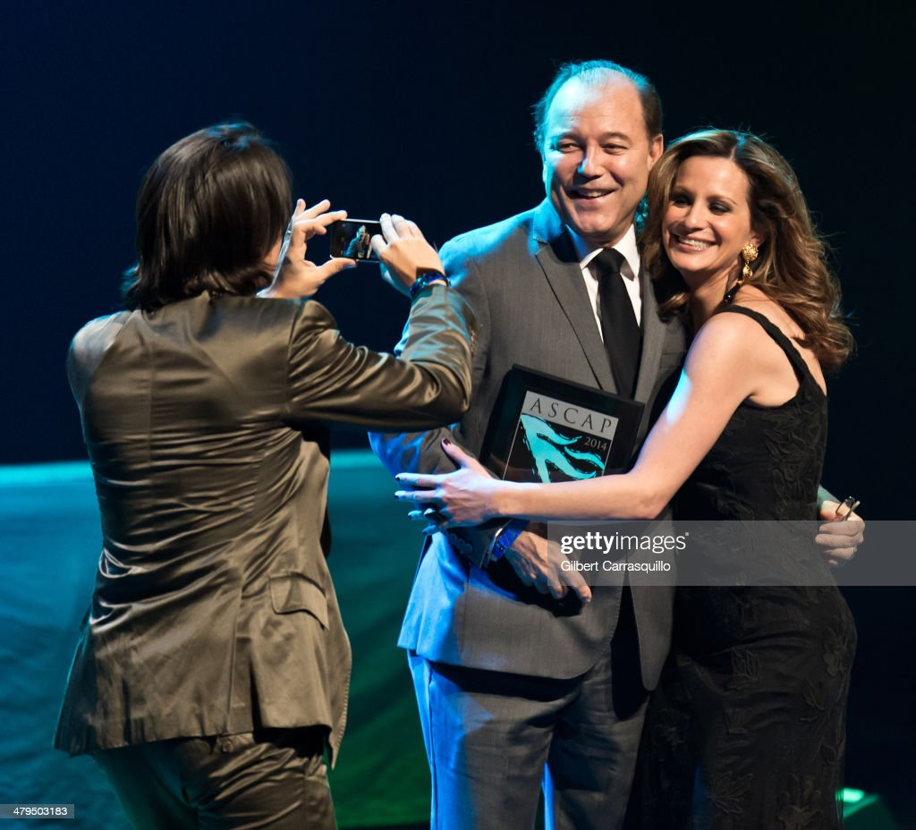 Singer <a gi-track='captionPersonalityLinkClicked' href=/galleries/search?phrase=Ruben+Blades&family=editorial&specificpeople=217243 ng-click='$event.stopPropagation()'>Ruben Blades</a> (C) attends the 22nd annual ASCAP Latin Music Awards at Hammerstein Ballroom on March 18, 2014 in New York City.