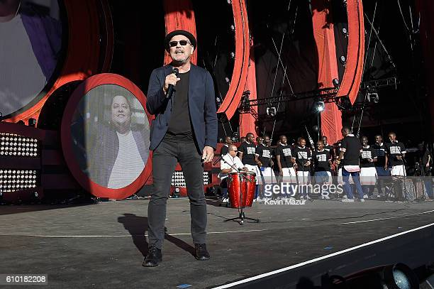 Singer Ruben Blades performs onstage with the Kenyan Boys Choir at the 2016 Global Citizen Festival In Central Park To End Extreme Poverty By 2030 at...