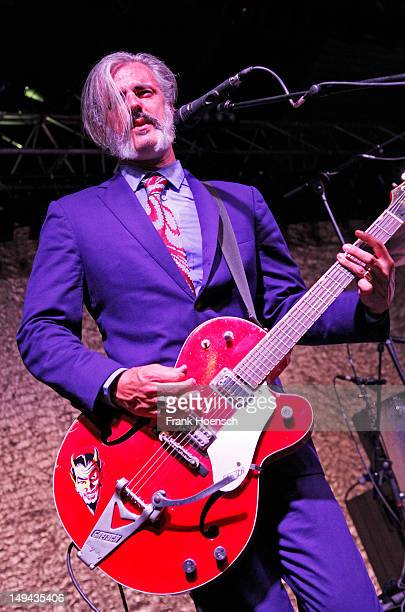 Singer Ruben Block of the band Triggerfinger performs live during a concert at the Greenday Festival on July 27 2012 in Paaren Glien Germany