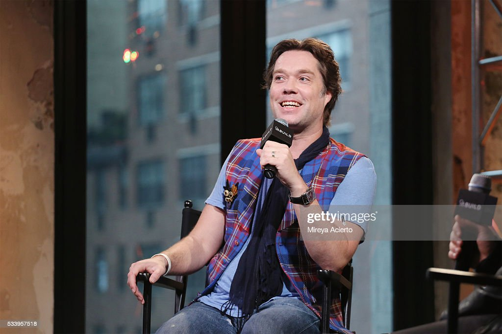 Singer <a gi-track='captionPersonalityLinkClicked' href=/galleries/search?phrase=Rufus+Wainwright&family=editorial&specificpeople=206122 ng-click='$event.stopPropagation()'>Rufus Wainwright</a> discusses the 10th Anniversary of 'Rufus Does Judy at Carnegie Hall' at AOL Studios in New York on May 24, 2016 in New York City.