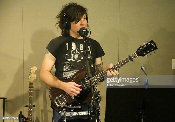 Singer Ryan Adams visits the SiriusXM Studios on August 12 2014 in New York City