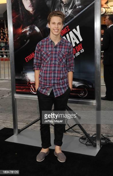 Singer Ryan Beatty arrives at the 'Getaway' Los Angeles Premiere at Regency Village Theatre on August 26 2013 in Westwood California