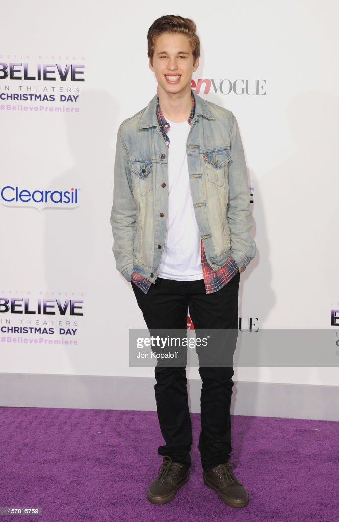 Singer <a gi-track='captionPersonalityLinkClicked' href=/galleries/search?phrase=Ryan+Beatty&family=editorial&specificpeople=8710529 ng-click='$event.stopPropagation()'>Ryan Beatty</a> arrives at the Los Angeles Premiere 'Justin Bieber's Believe' at Regal Cinemas L.A. Live on December 18, 2013 in Los Angeles, California.