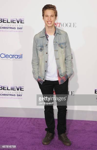Singer Ryan Beatty arrives at the Los Angeles Premiere 'Justin Bieber's Believe' at Regal Cinemas LA Live on December 18 2013 in Los Angeles...