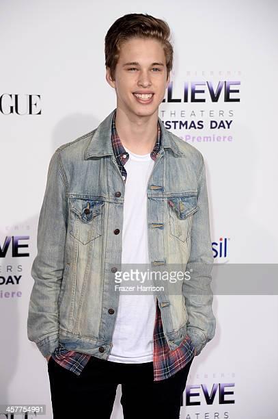 Singer Ryan Beatty arrives at the premiere of Open Road Films' 'Justin Bieber's Believe' at Regal Cinemas LA Live on December 18 2013 in Los Angeles...