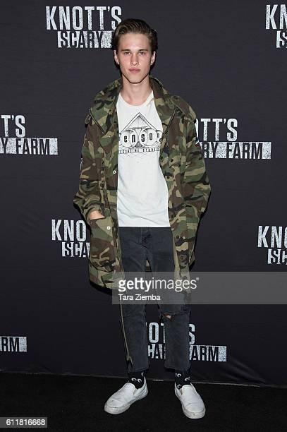 Singer Ryan Beatty attends the Knott's Scary Farm Black Carpet Party at Knott's Berry Farm on September 30 2016 in Buena Park California
