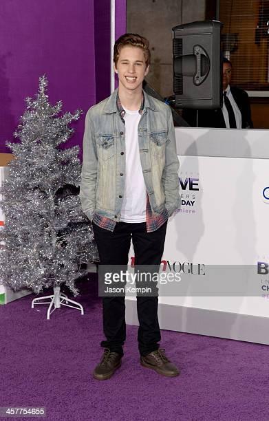 Singer Ryan Beatty attends the premiere of Open Road Films' 'Justin Bieber's Believe' at Regal Cinemas LA Live on December 18 2013 in Los Angeles...