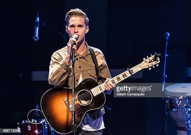 Singer Ryan Beatty performs during Cody Simpson In Concert at World Cafe Live on April 5 2015 in Philadelphia Pennsylvania