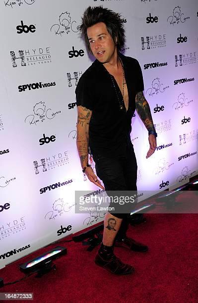 Singer Ryan Cabrera arrives at Hyde Bellagio at the Bellagio on March 28 2013 in Las Vegas Nevada