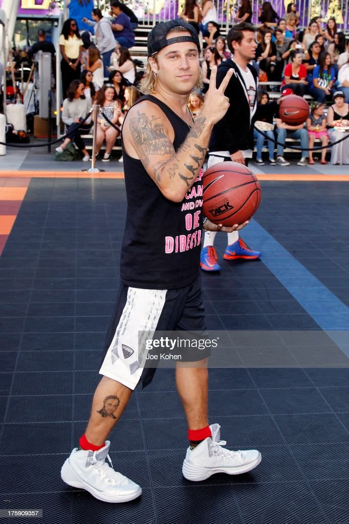 Singer <a gi-track='captionPersonalityLinkClicked' href=/galleries/search?phrase=Ryan+Cabrera&family=editorial&specificpeople=201482 ng-click='$event.stopPropagation()'>Ryan Cabrera</a> attends the 2nd Annual Josh Hutcherson Celebrity Basketball Game Benefitting Straight But Not Narrow at L.A. LIVE on August 9, 2013 in Los Angeles, California.