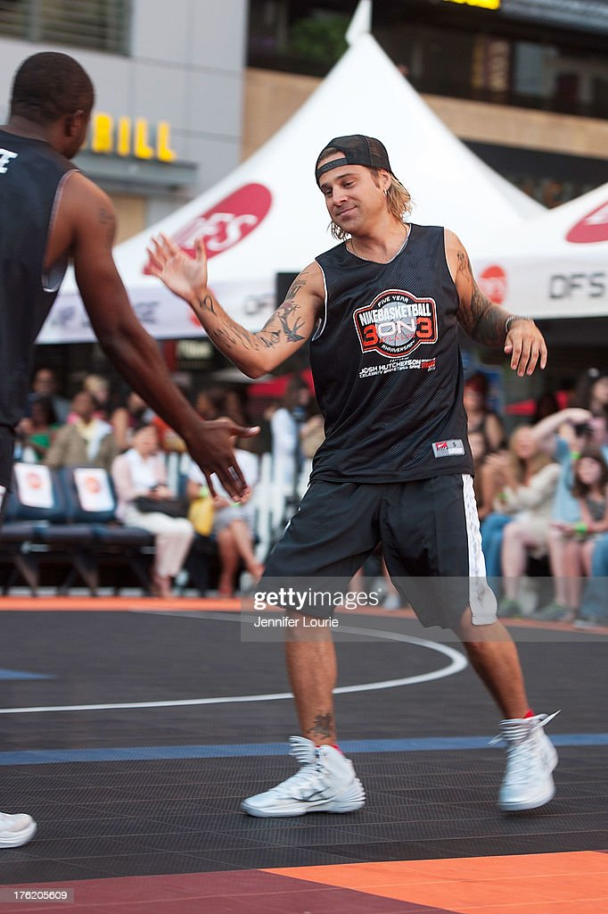 Singer Ryan Cabrera attends the 5th annual Nike basketball 3ON3 tournament presented by NBC4 southern california held at L.A. LIVE on August 9, 2013 in Los Angeles, California.