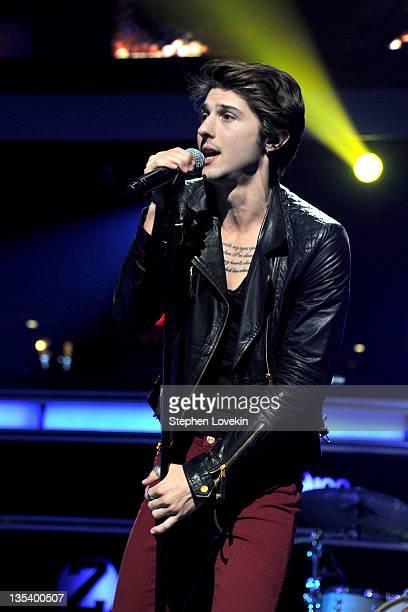 Singer Ryan Follese of Hot Chelle Rae performs onstage during Z100's Jingle Ball 2011 presented by Aeropostale at Madison Square Garden on December 9...