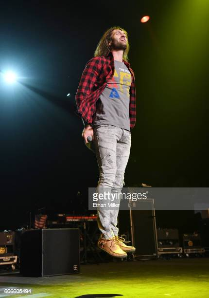 Singer Ryan Hurd performs during the ACM Party For A Cause The Joint at The Joint inside the Hard Rock Hotel Casino on April 1 2017 in Las Vegas...