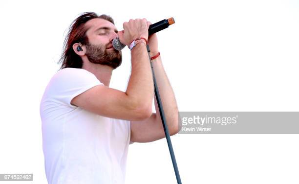 Singer Ryan Hurd performs on the Toyota Mane Stage stage during day 1 of 2017 Stagecoach California's Country Music Festival at the Empire Polo Club...
