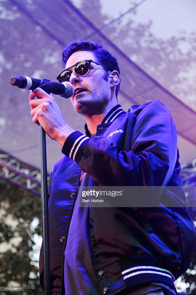 Singer Ryan Merchant of Capital Cities performs at the 2013 Grove summer concert series at The Grove on July 24, 2013 in Los Angeles, California.